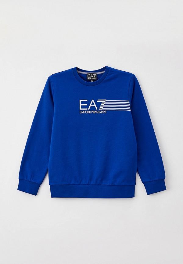 свитшот ea7 для мальчика, синий