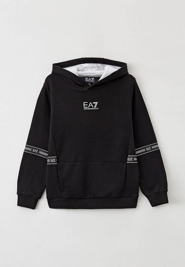 худи ea7 для мальчика, черные