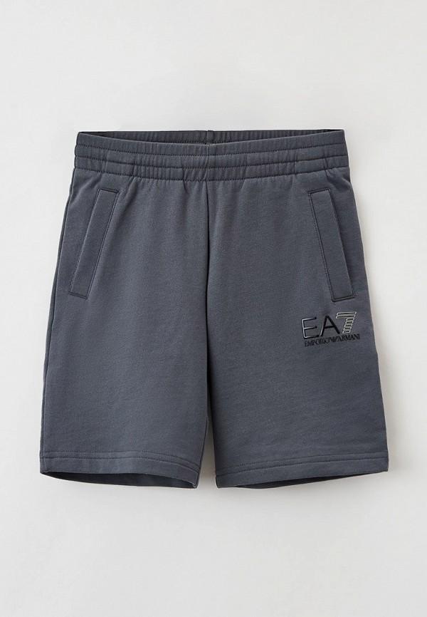 спортивные шорты ea7 для мальчика, серые