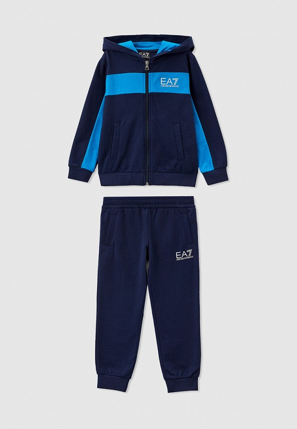 спортивный костюм ea7 для мальчика, синий