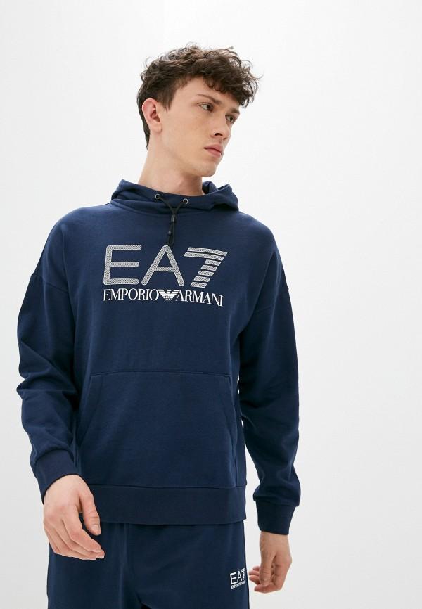 мужские худи ea7, синие