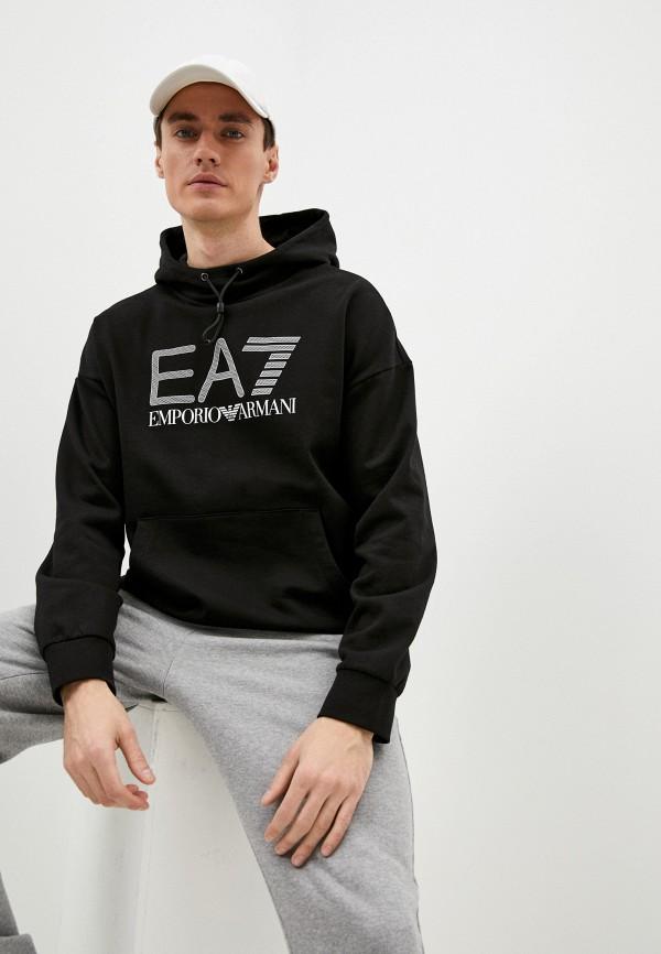 мужские худи ea7, черные