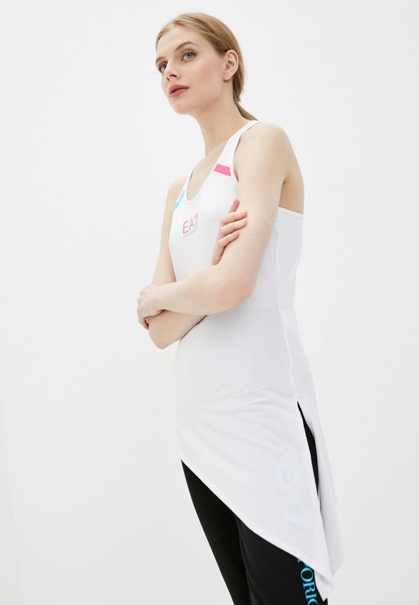 женская спортивные майка ea7, белая