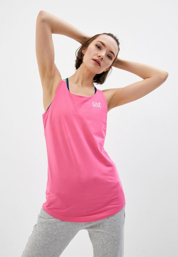 женская спортивные майка ea7, розовая