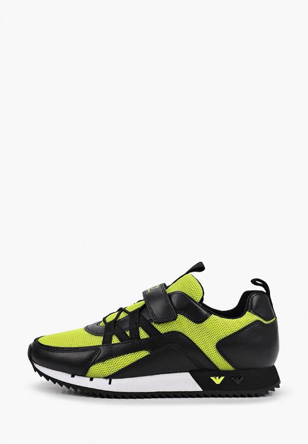 кроссовки ea7 малыши, зеленые