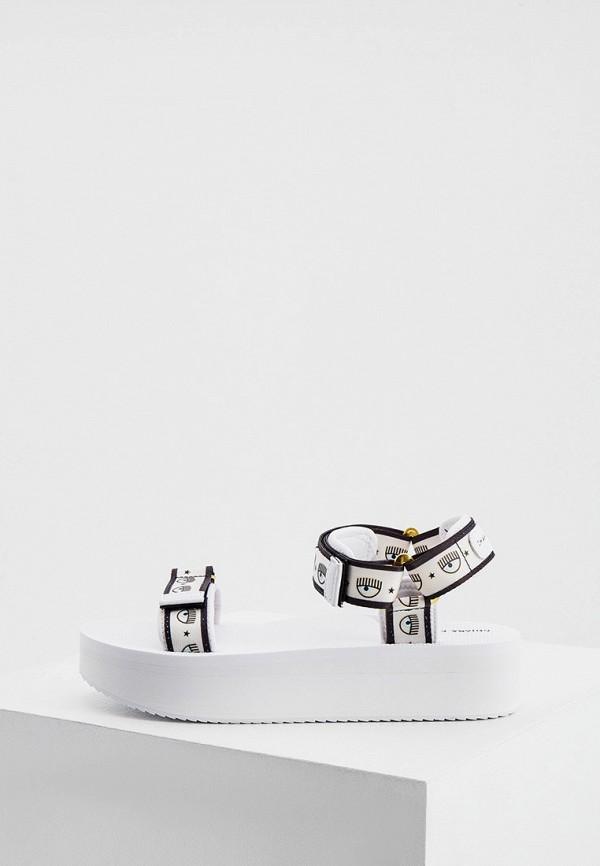 женские сандалии chiara ferragni, белые