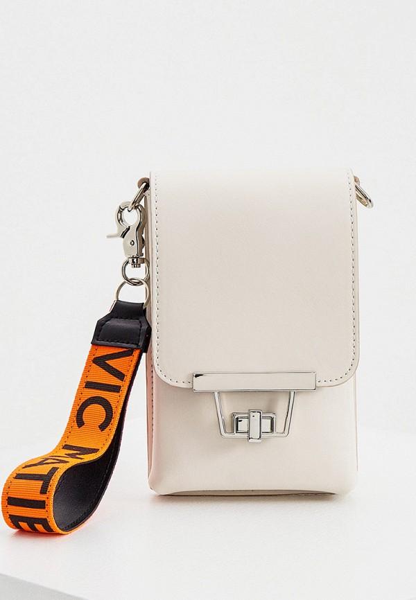 женская сумка vic matie, бежевая