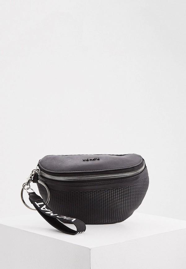женская поясные сумка vic matie, черная
