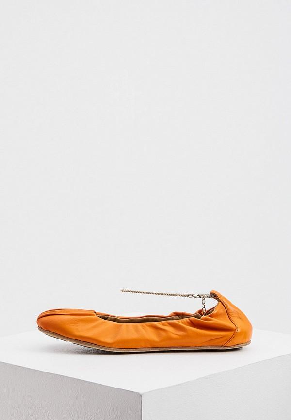женские балетки vic matie, оранжевые