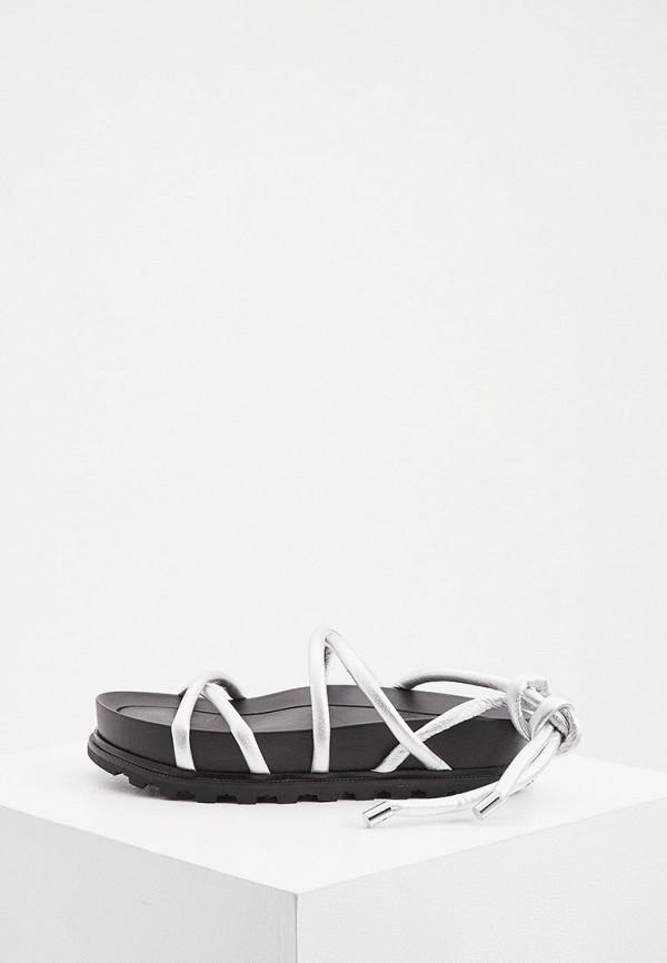 женские сандалии vic matie, серебряные