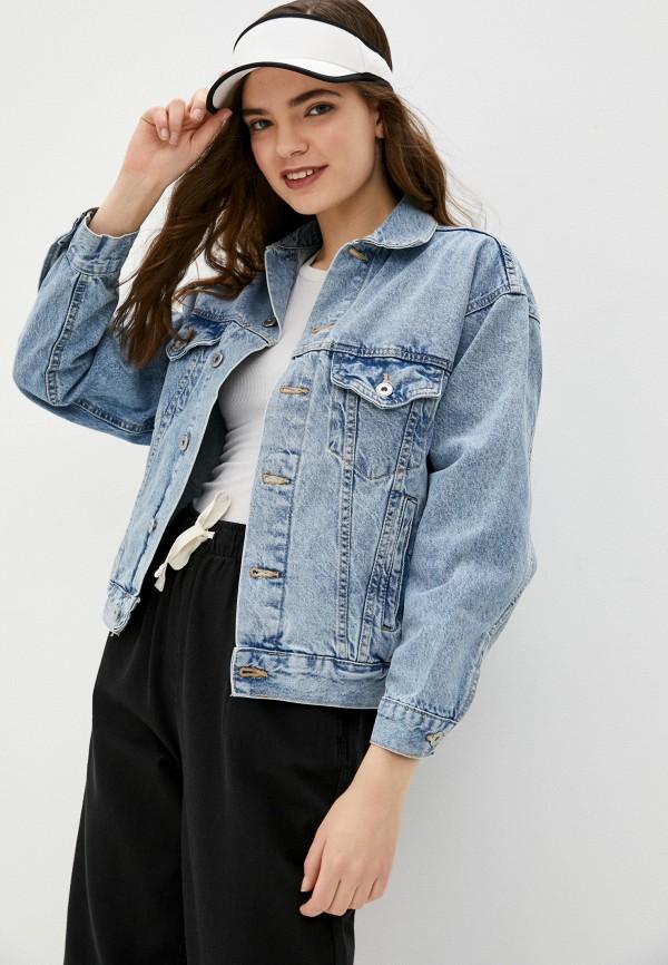 женская джинсовые куртка cotton on, голубая