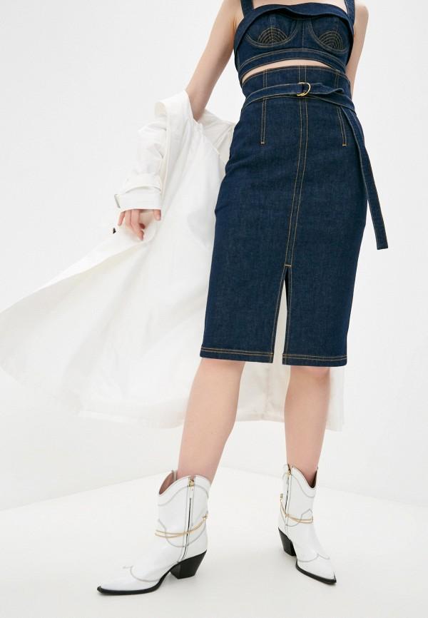 женская джинсовые юбка philosophy di lorenzo serafini, синяя