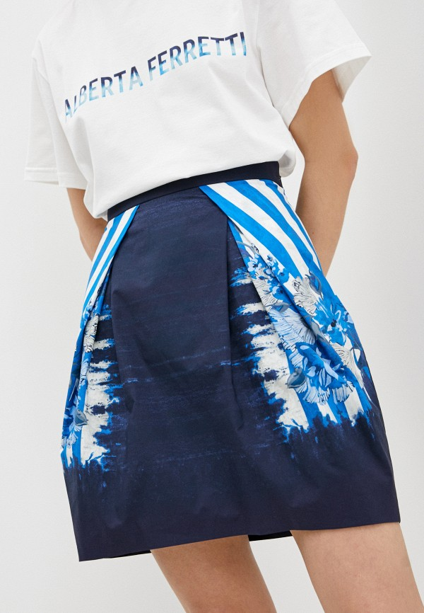 женская юбка alberta ferretti, синяя