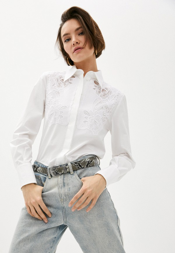женская блузка alberta ferretti, белая