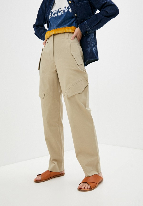 женские повседневные брюки alberta ferretti, бежевые
