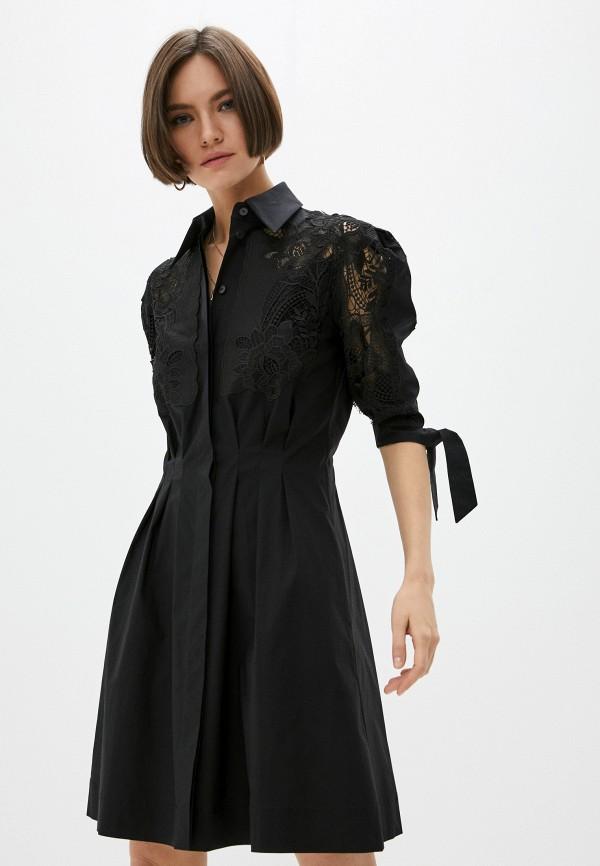 женское платье alberta ferretti, черное