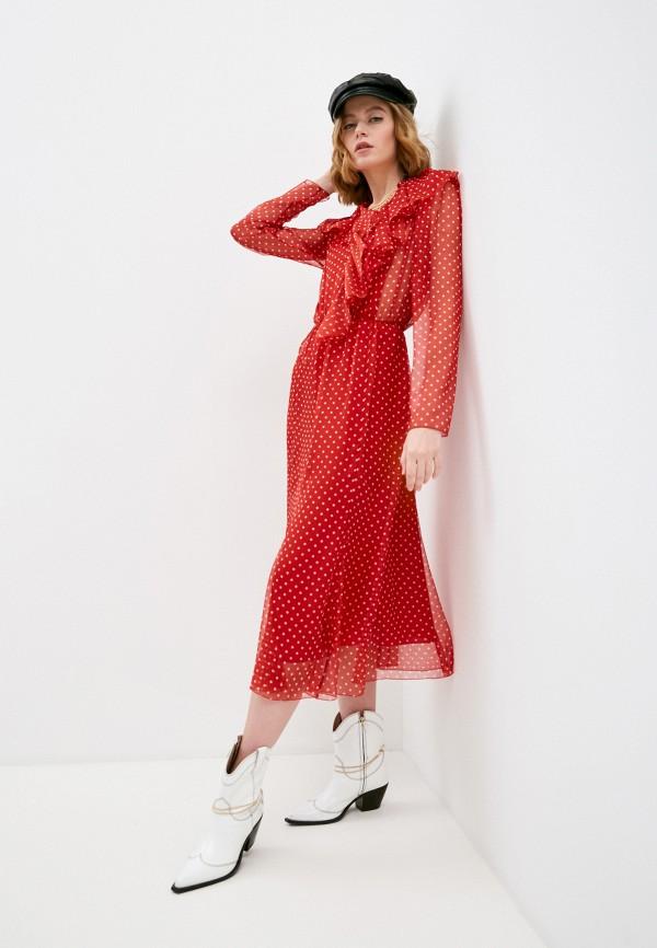 женское повседневные платье philosophy di lorenzo serafini, красное