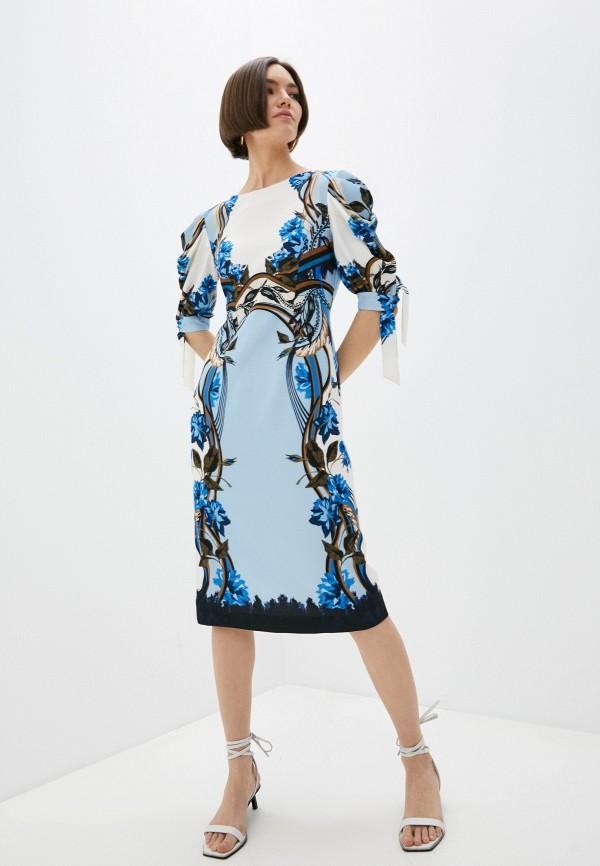женское повседневные платье alberta ferretti, разноцветное
