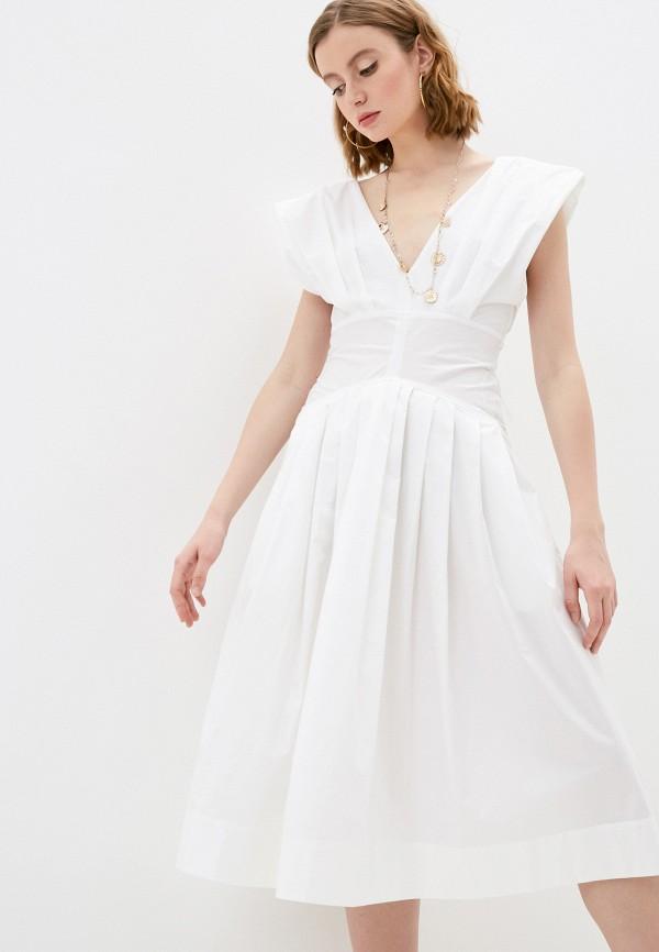 женское повседневные платье philosophy di lorenzo serafini, белое