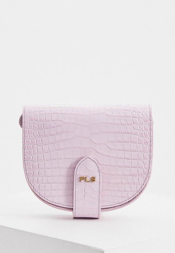 женская сумка через плечо philosophy di lorenzo serafini, фиолетовая