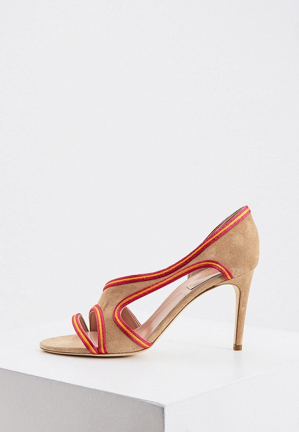 женские туфли alberta ferretti, бежевые