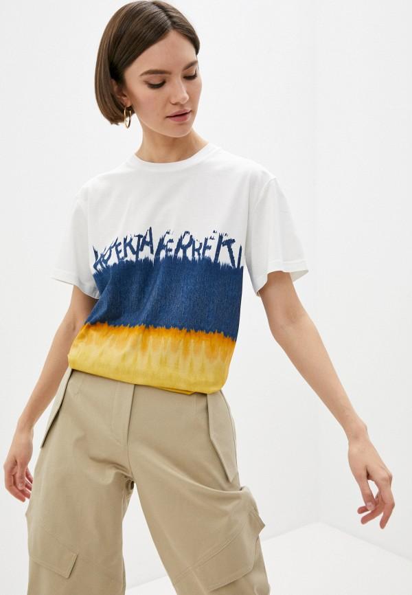 женская футболка alberta ferretti, разноцветная