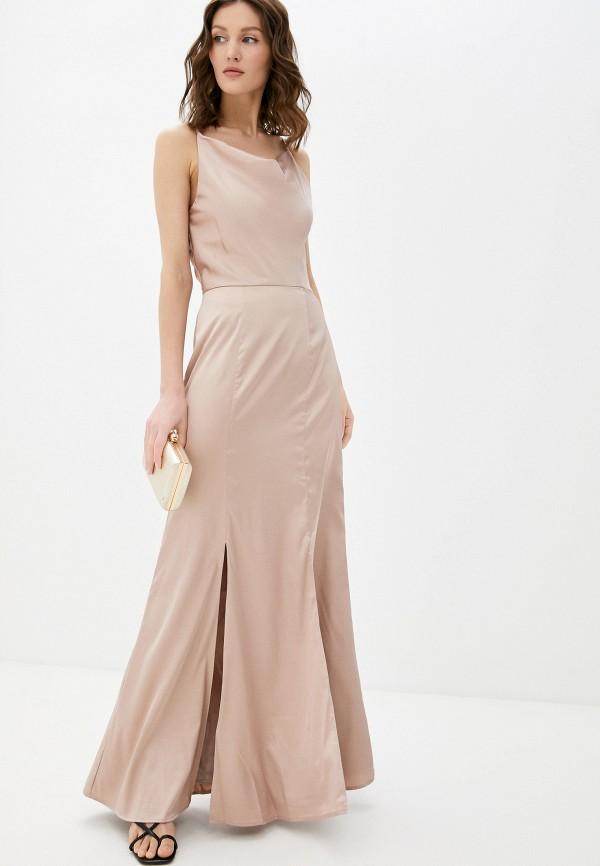 женское платье chi chi london, бежевое