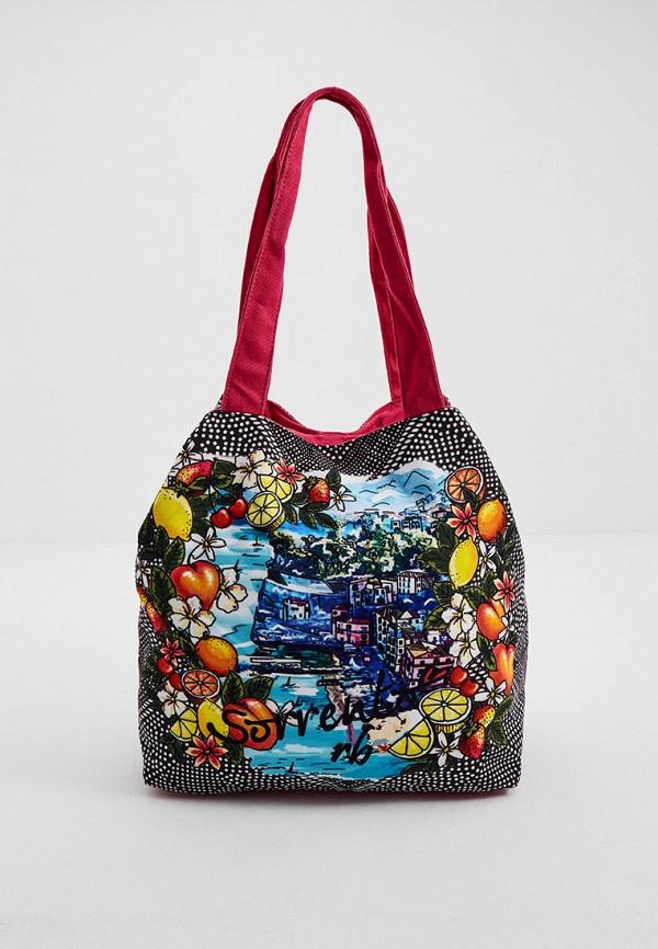 женская сумка-шоперы roccobarocco, разноцветная