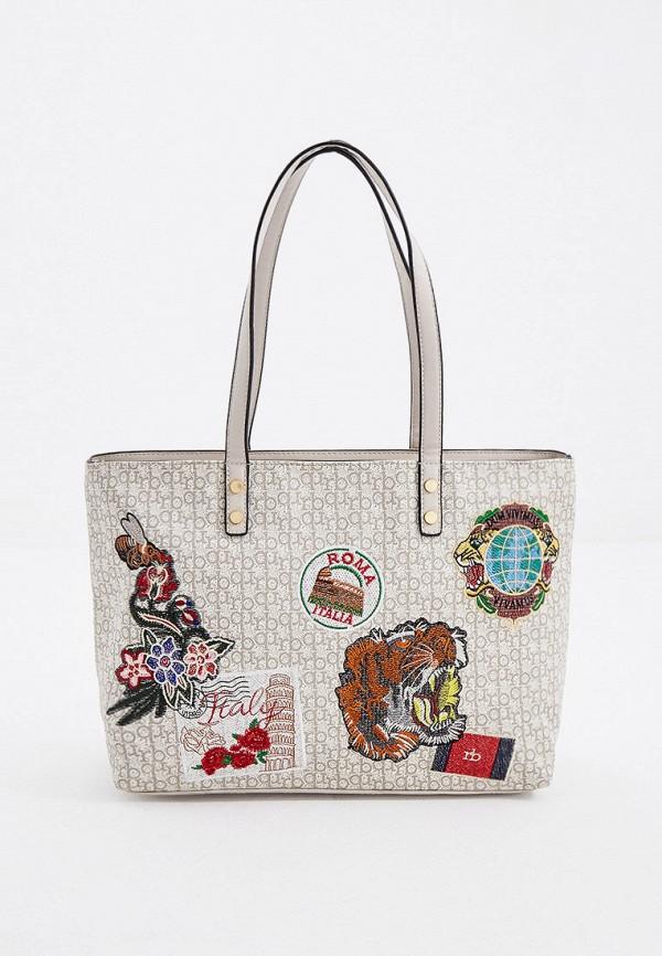 женская сумка roccobarocco, бежевая