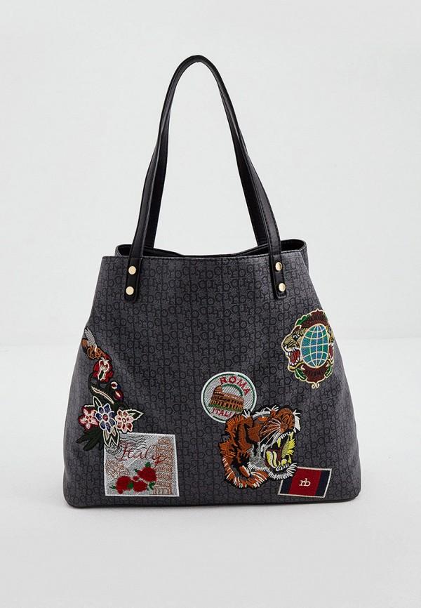 женская сумка-шоперы roccobarocco, серая
