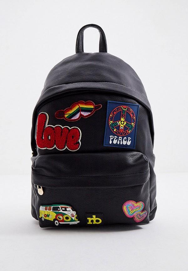 женский рюкзак roccobarocco, черный