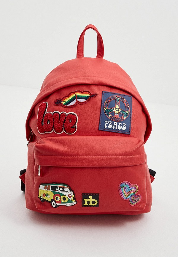 женский рюкзак roccobarocco, красный