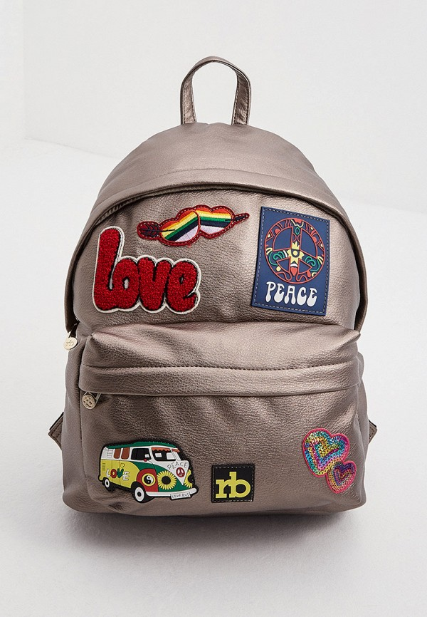 женский рюкзак roccobarocco, коричневый