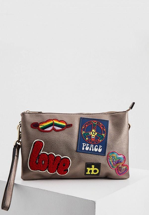 женская сумка roccobarocco, коричневая