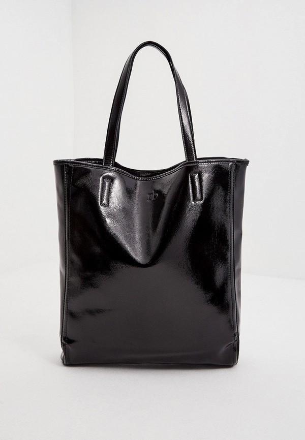 женская сумка с ручками roccobarocco, черная