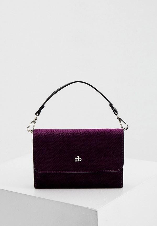 женская сумка с ручками roccobarocco, фиолетовая