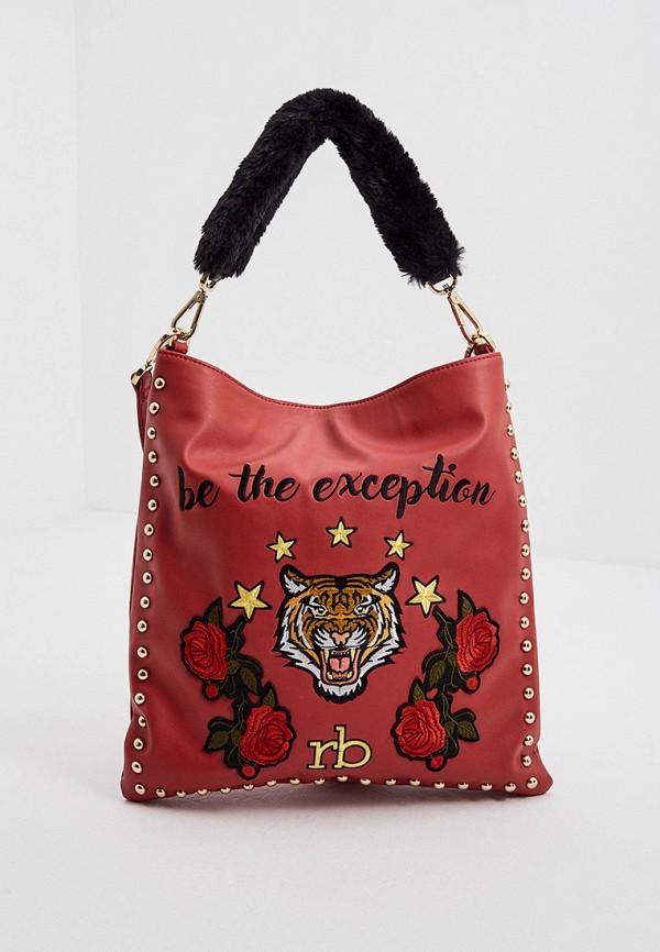 женская сумка roccobarocco, красная
