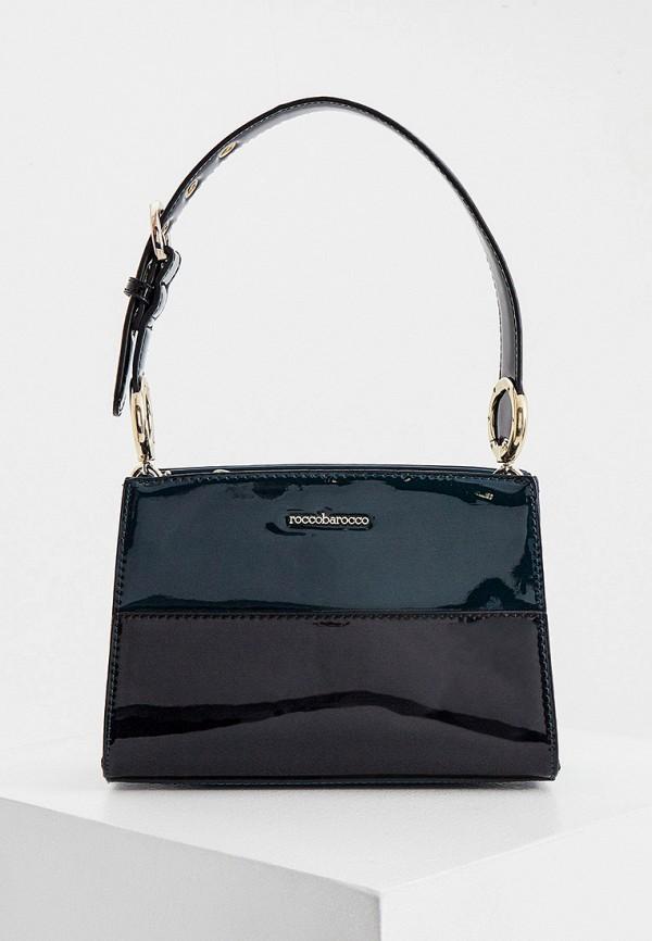женская сумка с ручками roccobarocco, бирюзовая