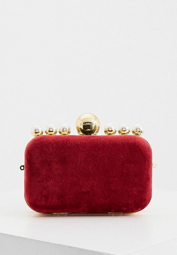 женский клатч roccobarocco, красный