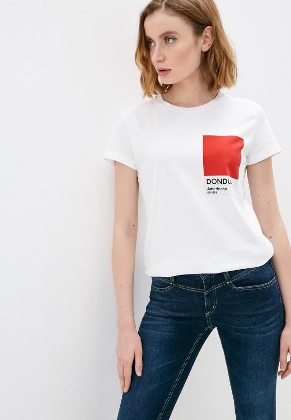 женская футболка dondup, белая