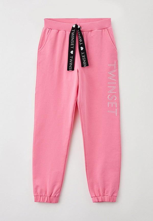 спортивные брюки twinset milano для девочки, розовые