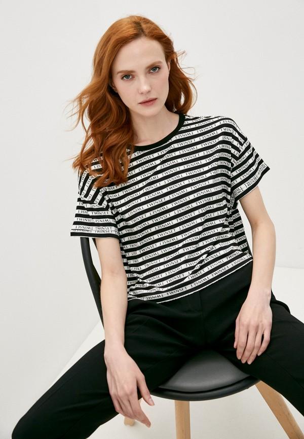 женская футболка twinset milano, разноцветная