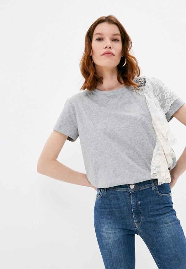 женская футболка twinset milano, серая