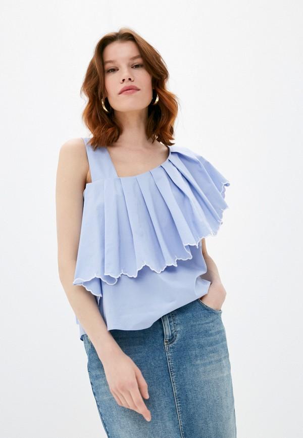 женская блузка twinset milano, голубая