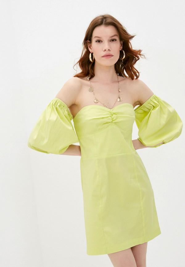 женское вечерние платье twinset milano, зеленое