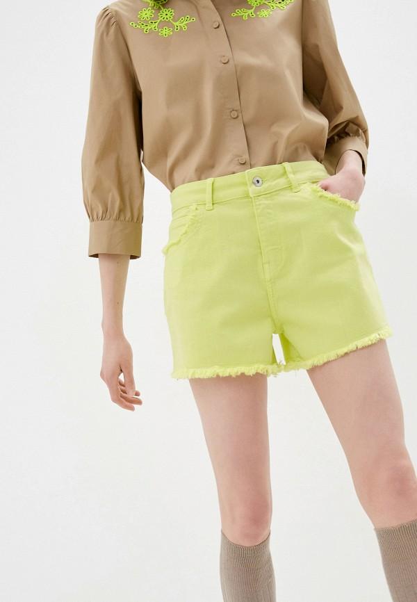 женские джинсовые шорты twinset milano, желтые