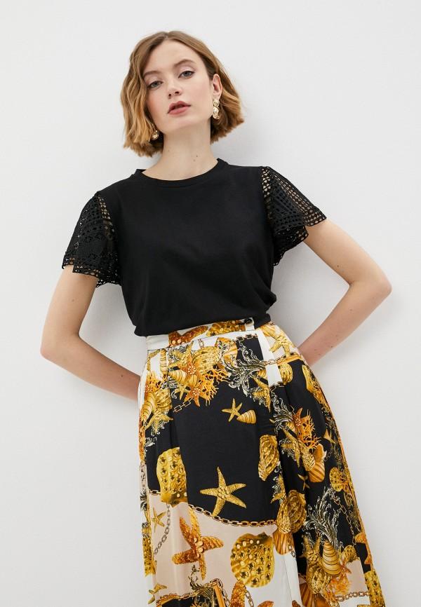 женская футболка twinset milano, черная
