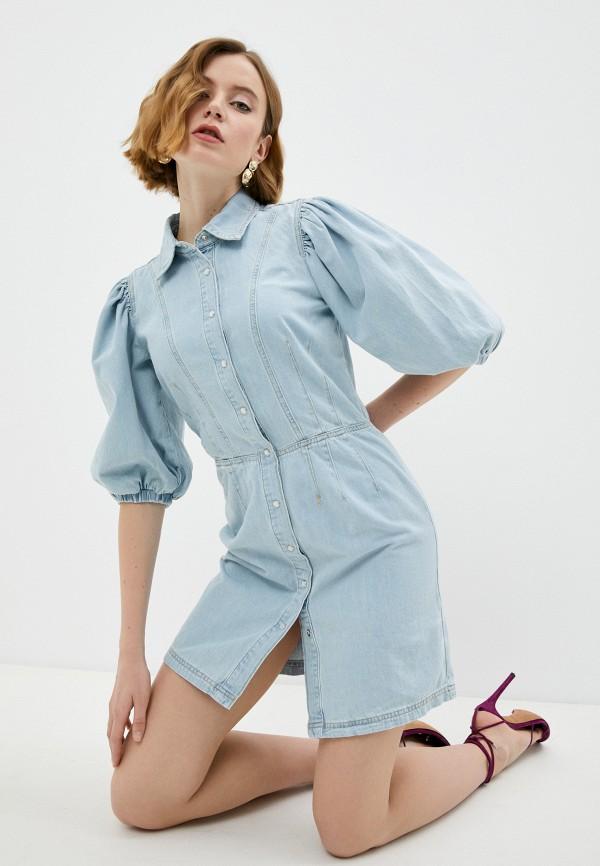 женское джинсовые платье twinset milano, голубое