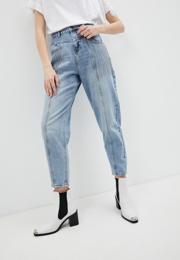 женские джинсы клеш twinset milano, голубые