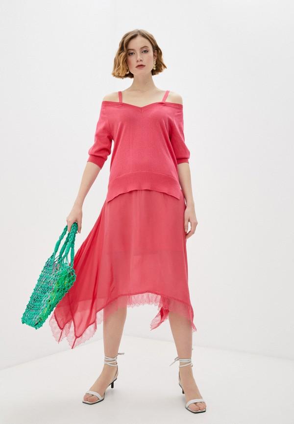 женское повседневные платье twinset milano, розовое